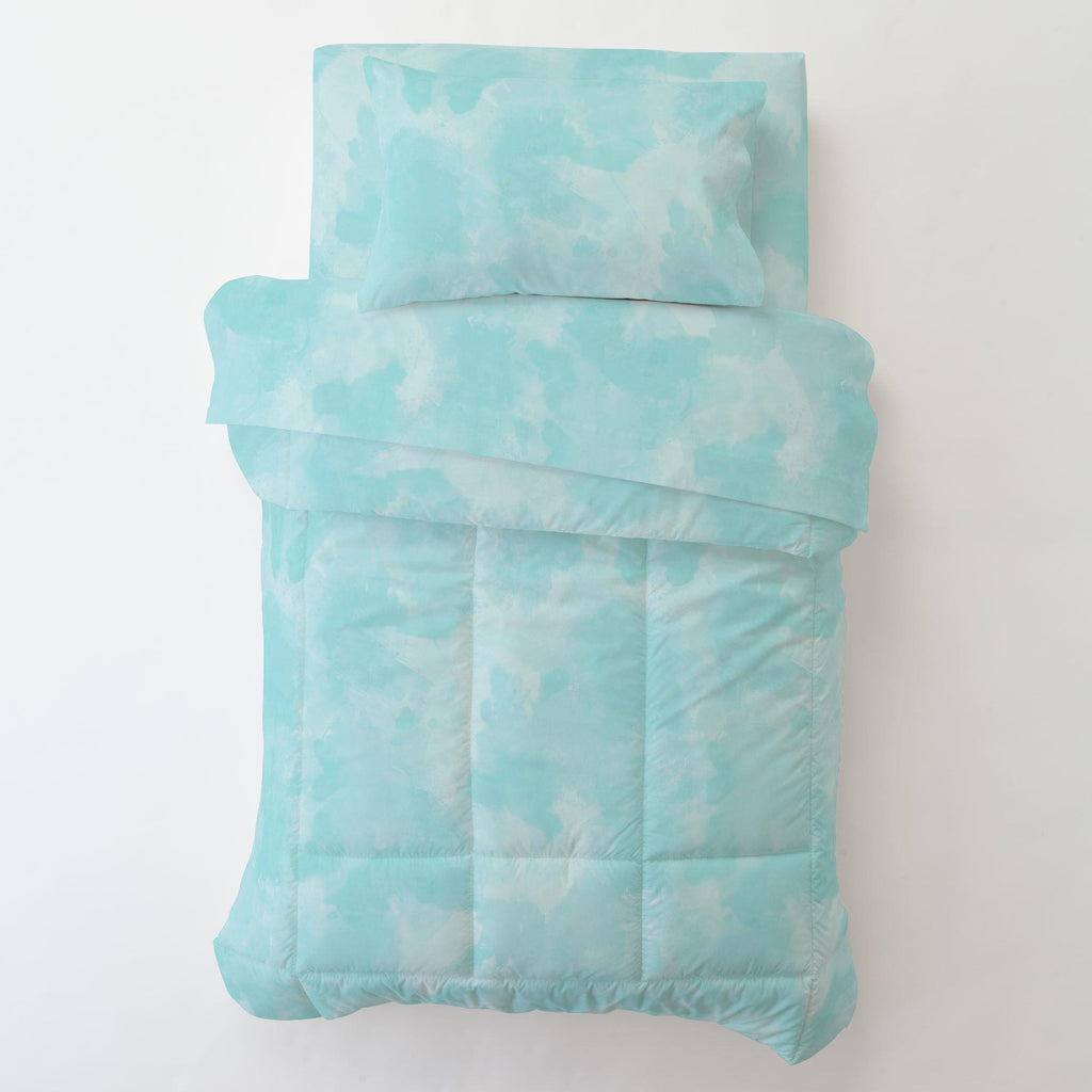 Product image for Seafoam Aqua Watercolor Toddler Sheet Bottom Fitted