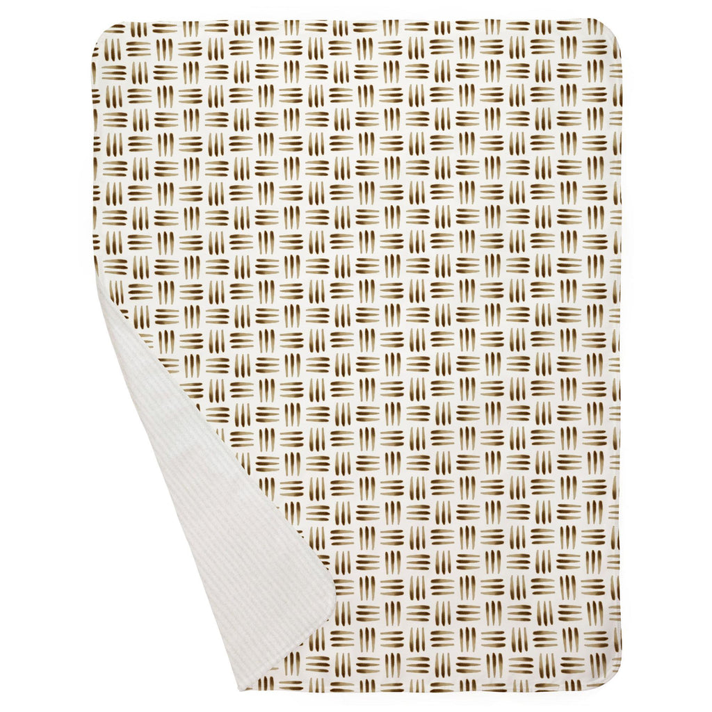 Product image for Brown Basket Baby Blanket