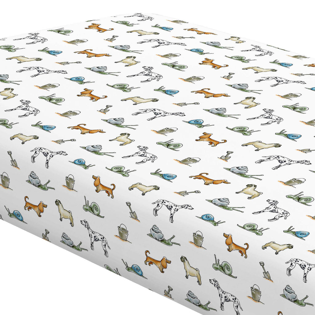 Product image for Snails and Tails Crib Sheet