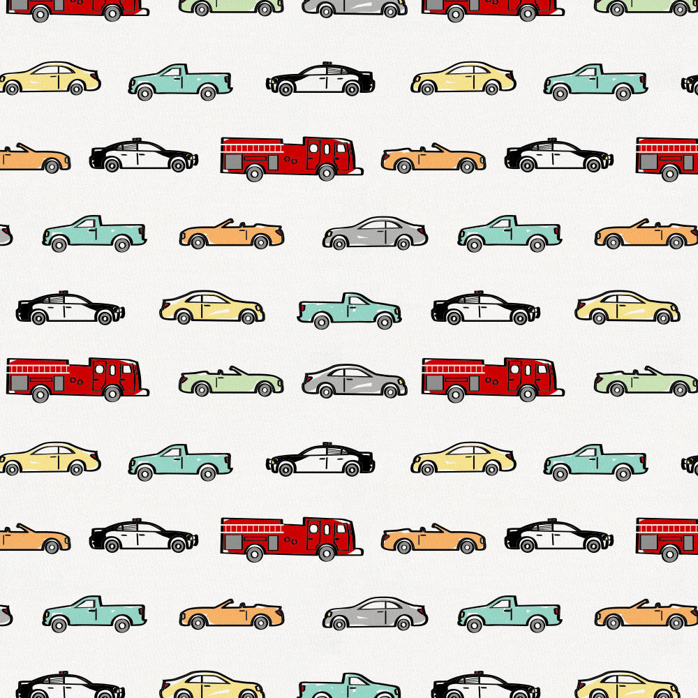 Product image for Modern Cars Crib Skirt Gathered