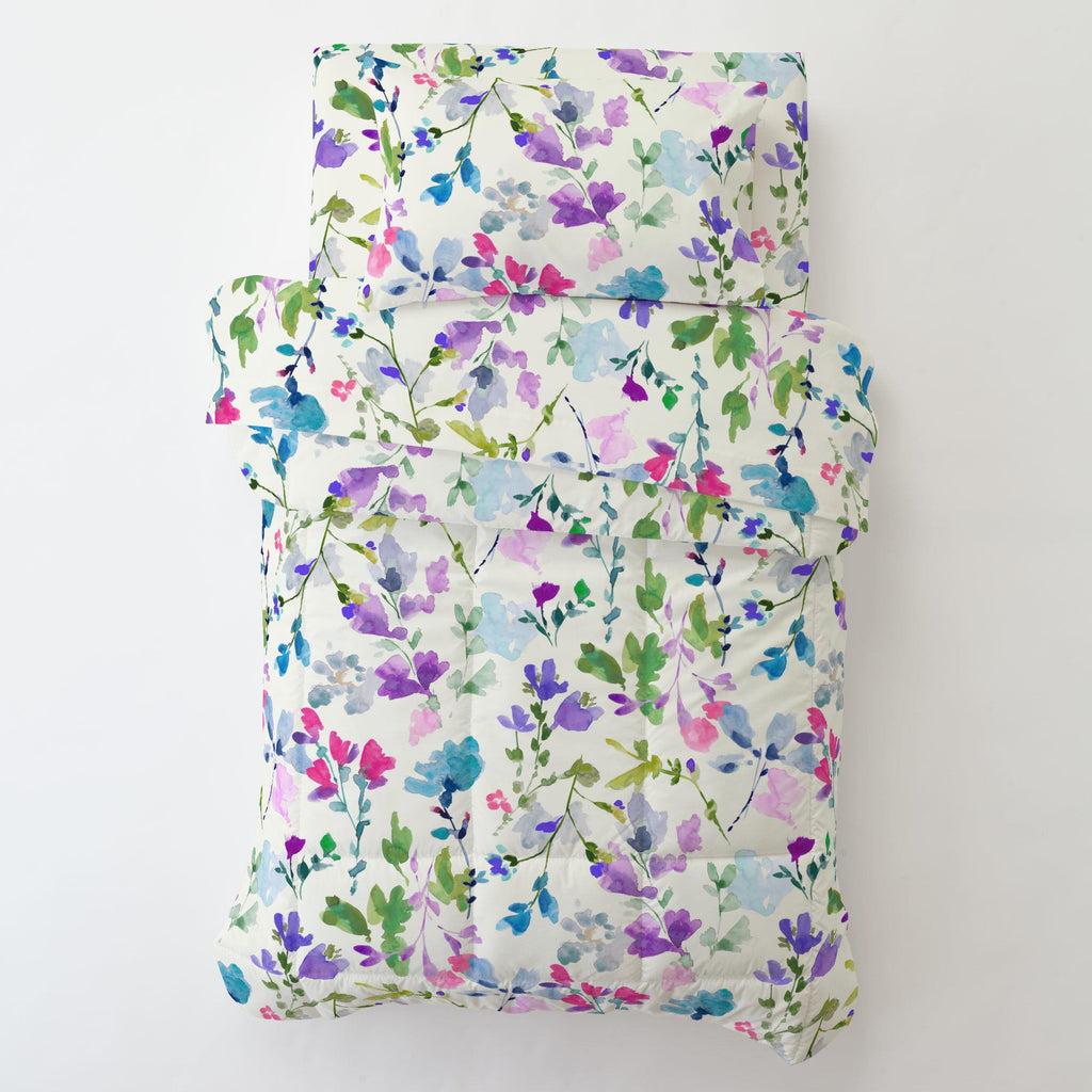 Product image for Bright Wildflower Toddler Sheet Bottom Fitted