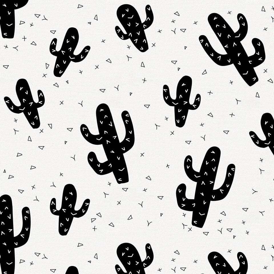 Product image for Onyx Cactus Toddler Pillow Case with Pillow Insert