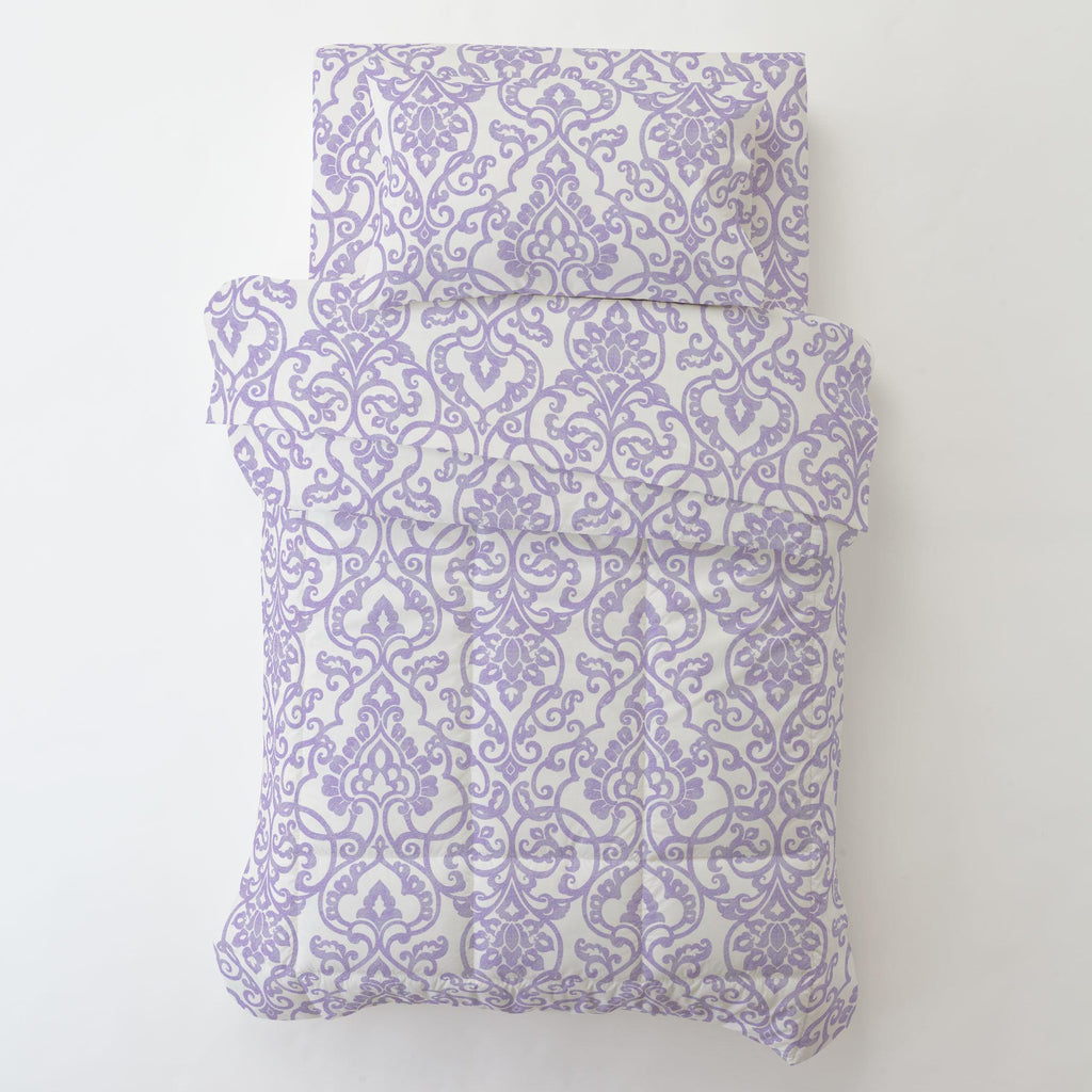 Product image for Lilac Filigree Toddler Sheet Bottom Fitted