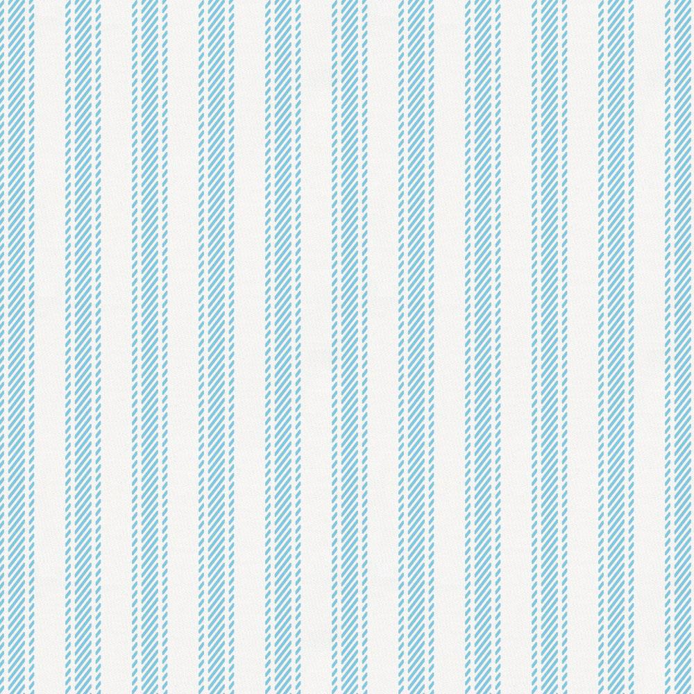 Product image for Lake Blue Ticking Stripe Crib Skirt Single-Pleat