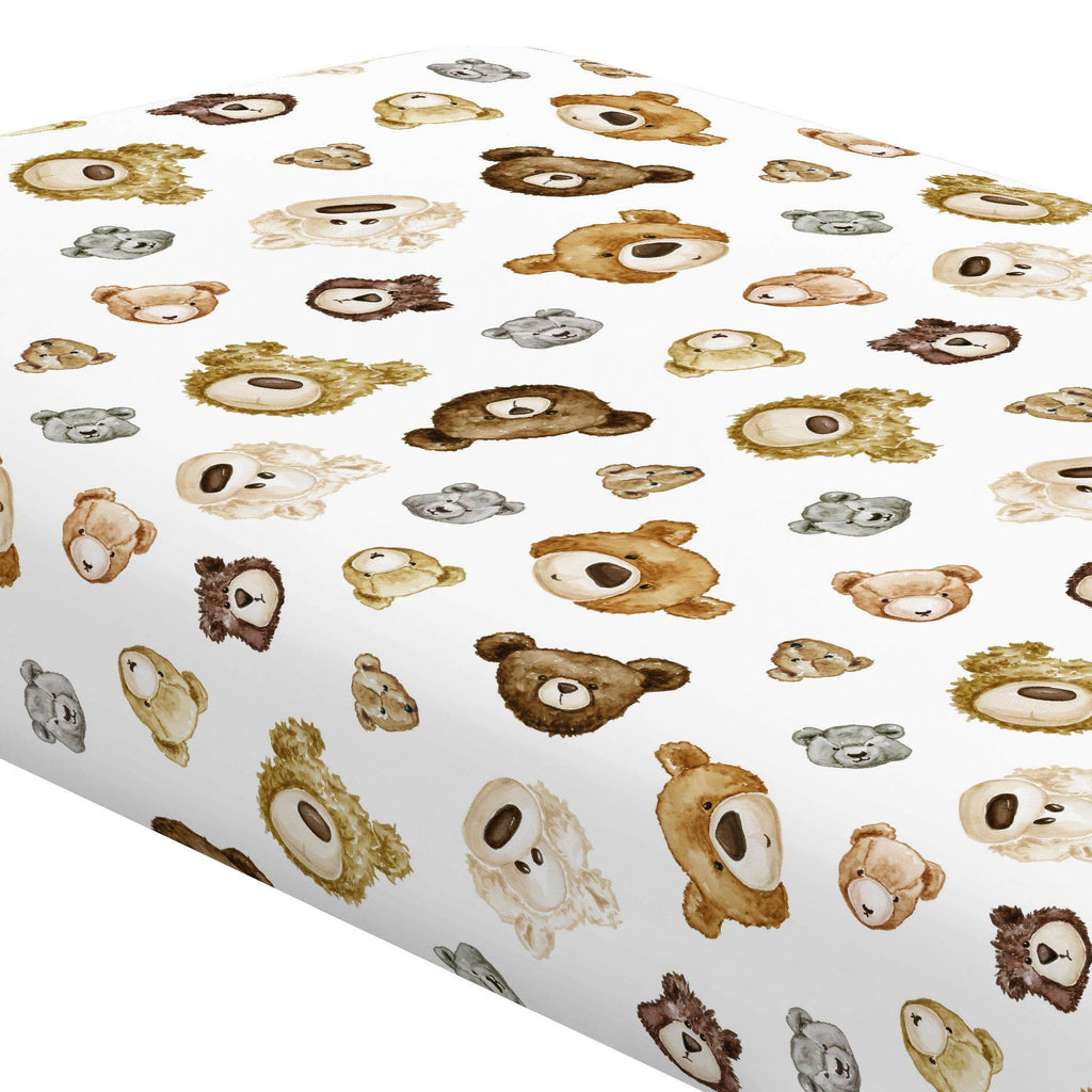 Product image for Teddy Bears Crib Sheet