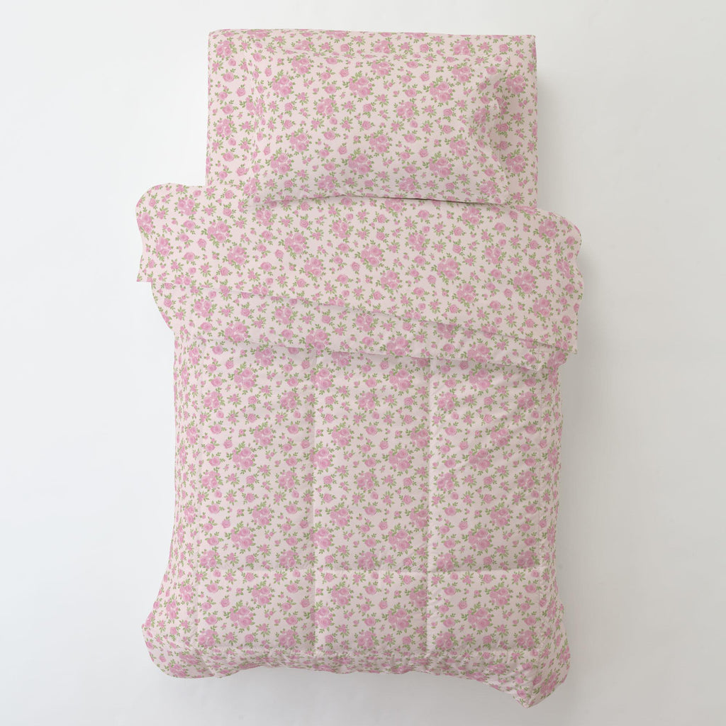 Product image for Pink Rosettes Toddler Pillow Case
