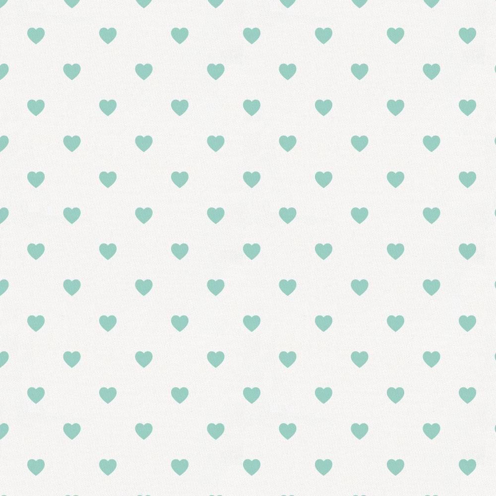 Product image for Mint Hearts Crib Skirt Gathered