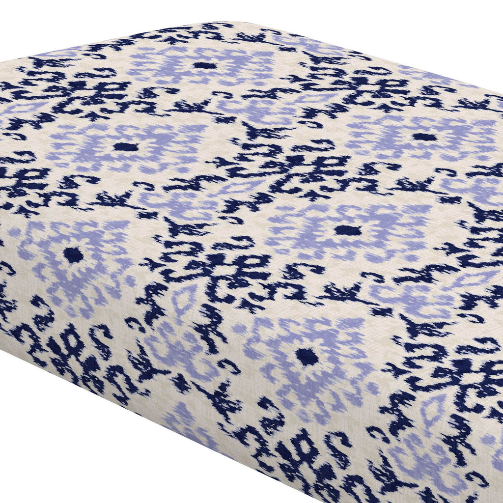 Product image for Navy and Lavender Ikat Damask Crib Sheet