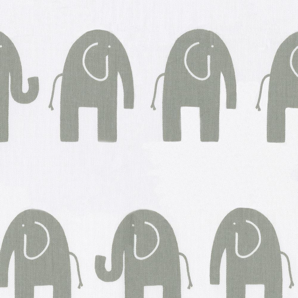 Product image for White and Gray Elephants Mini Crib Sheet