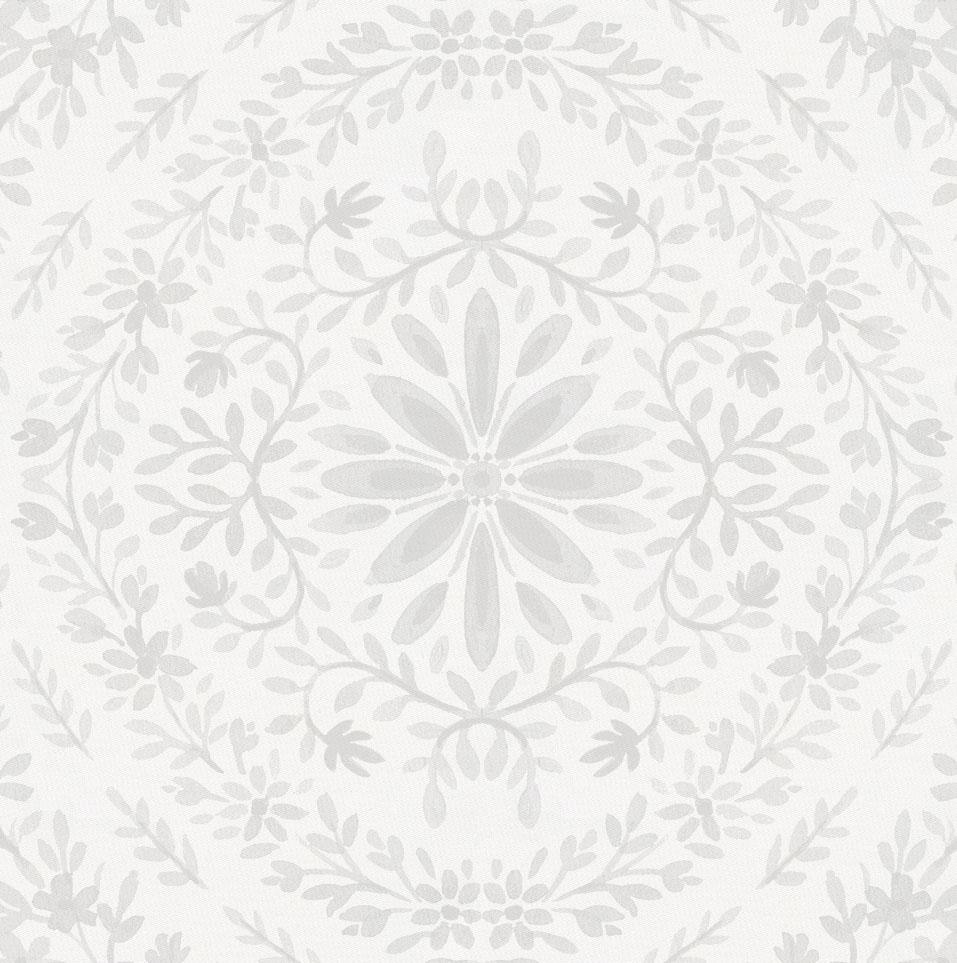 Product image for Gray Floral Damask Crib Skirt Single-Pleat