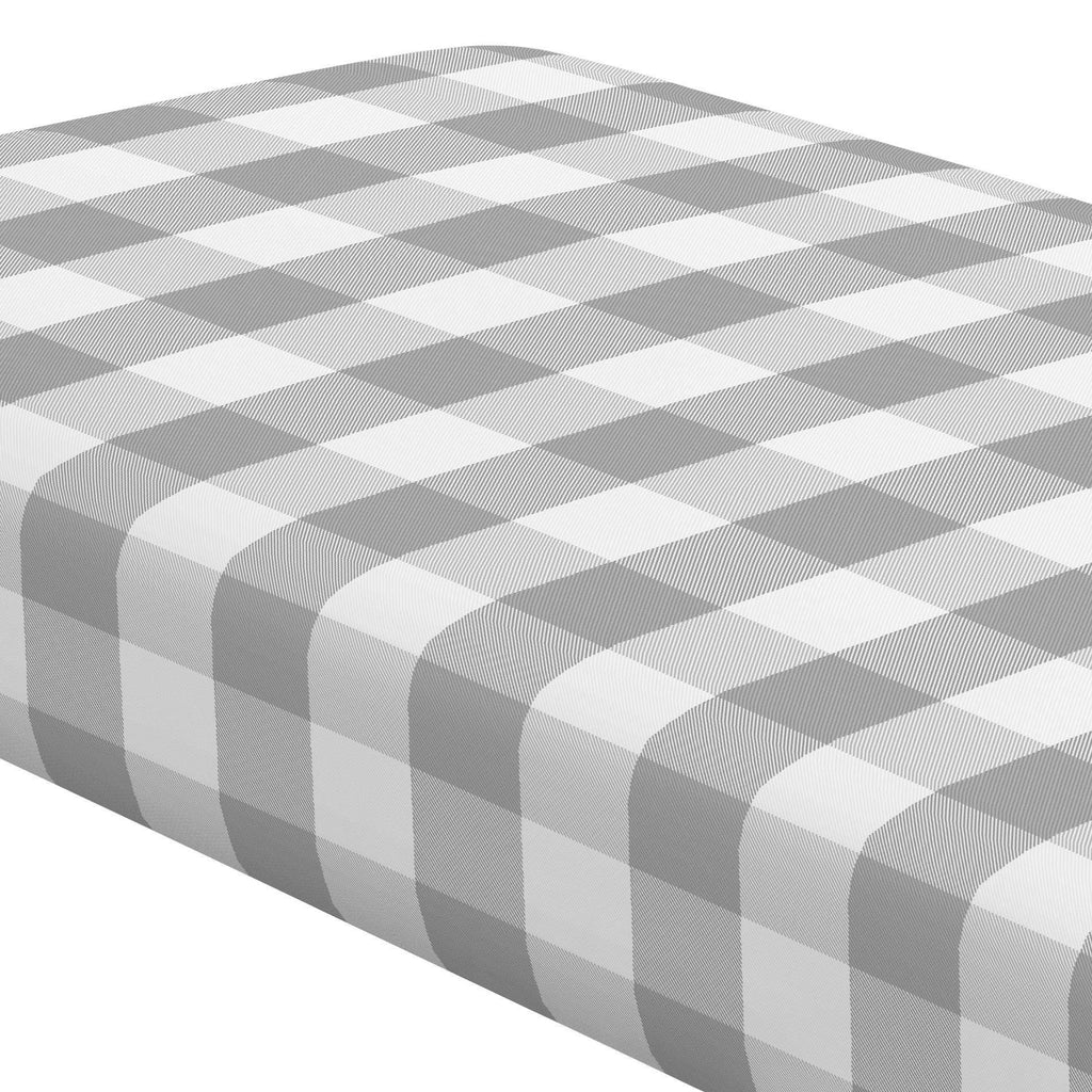 Product image for Gray Buffalo Check Crib Sheet