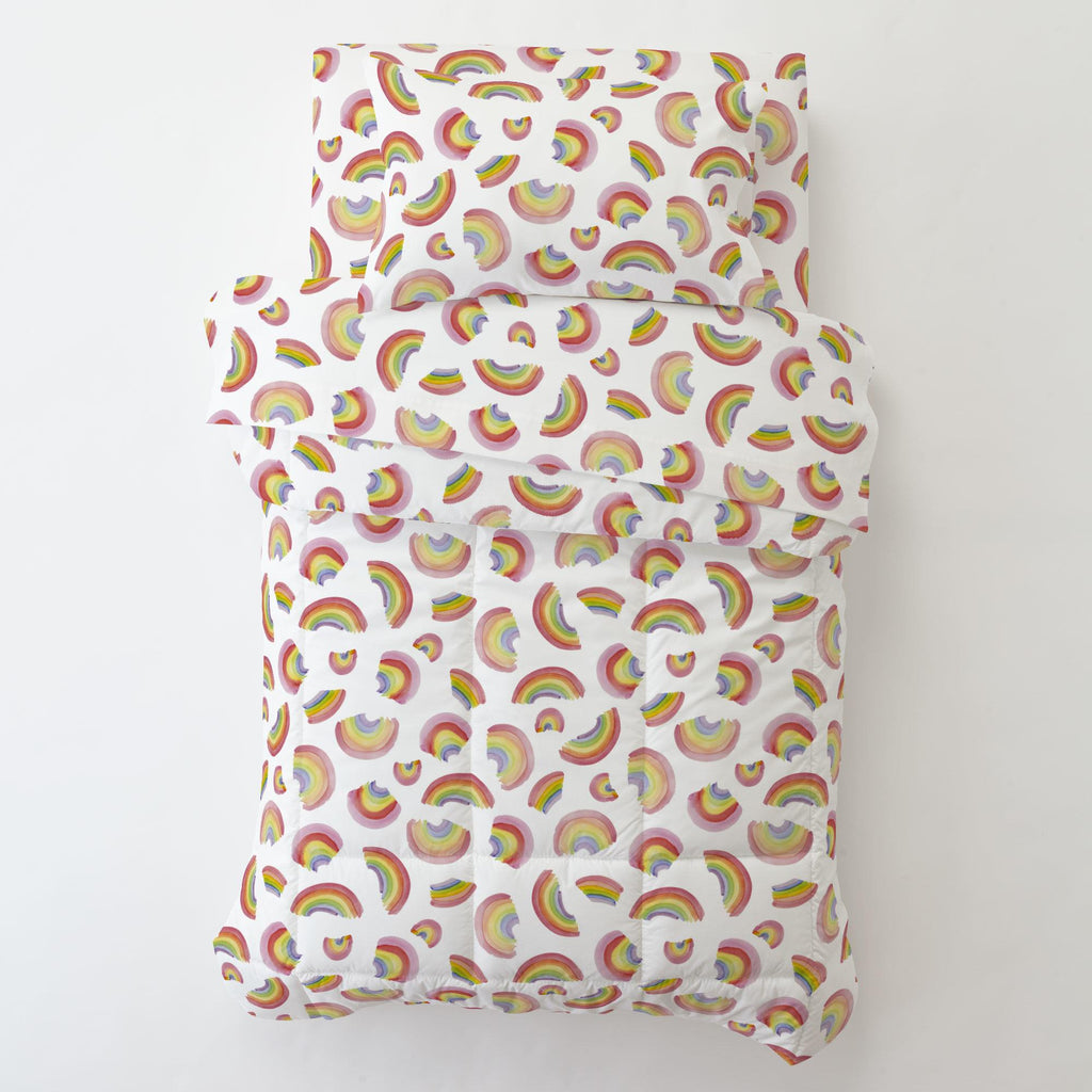 Product image for Watercolor Rainbows Toddler Pillow Case