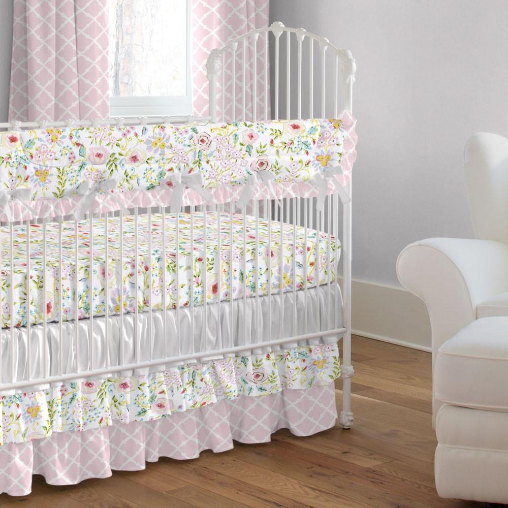 Product image for Pink Primrose Crib Rail Cover