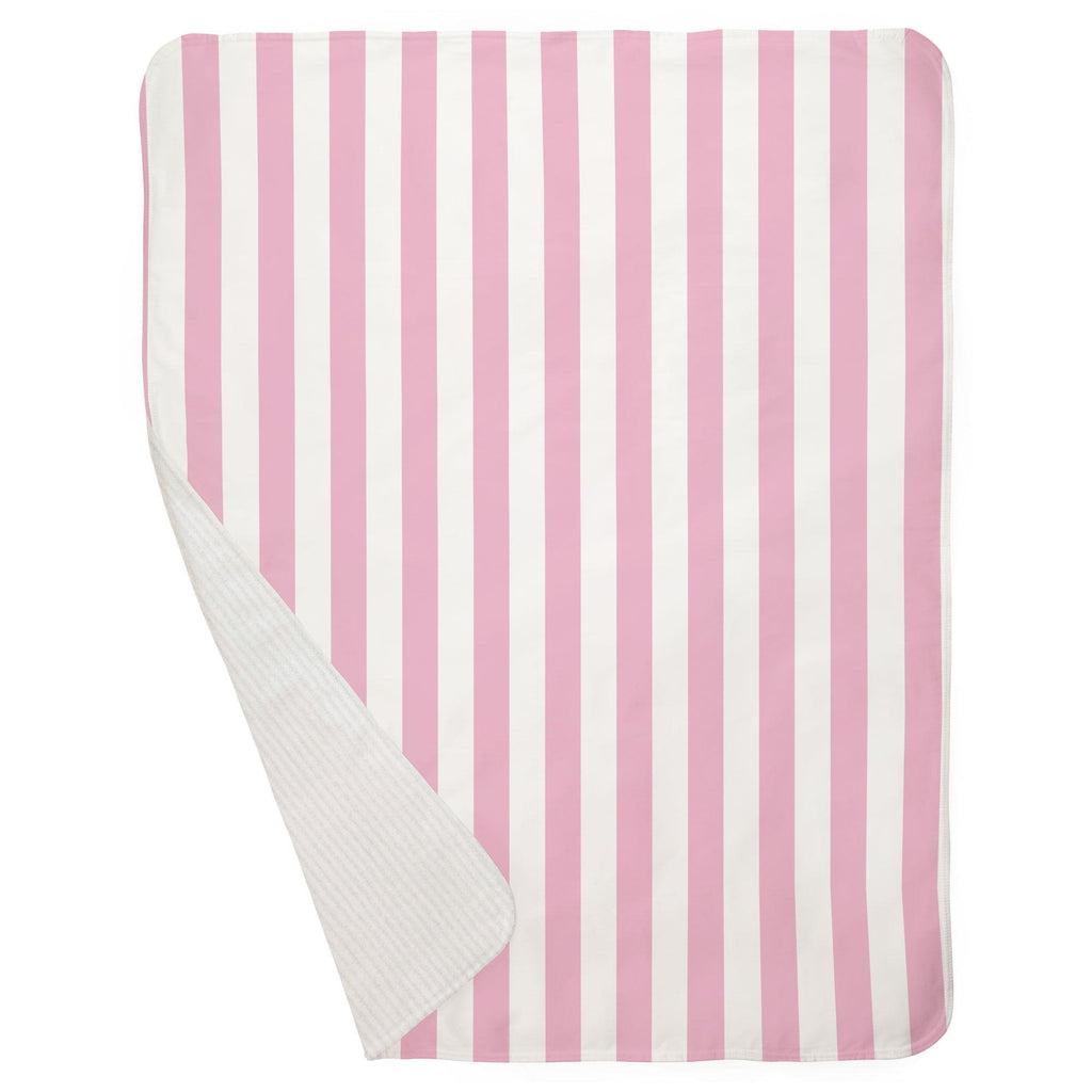 Product image for Bubblegum Pink Stripe Baby Blanket