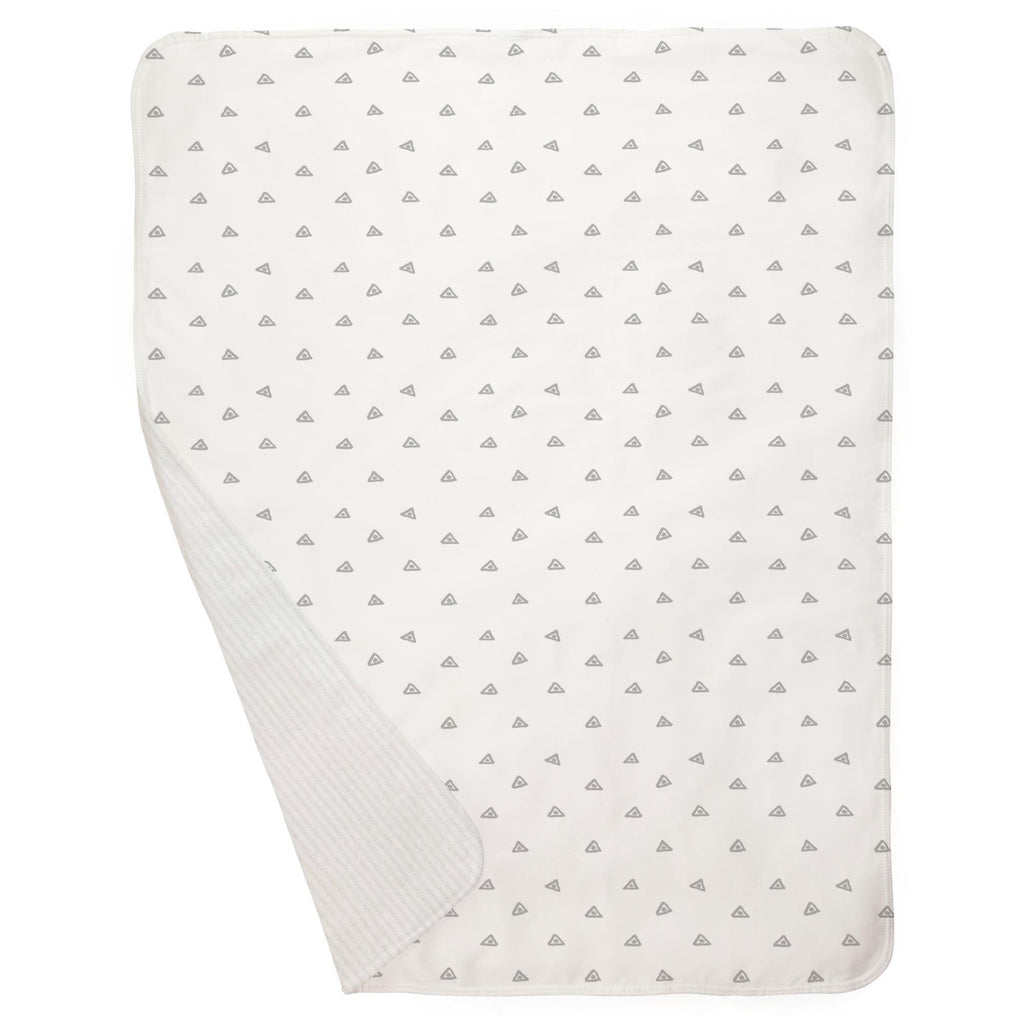 Product image for Silver Gray Triangle Dots Baby Blanket