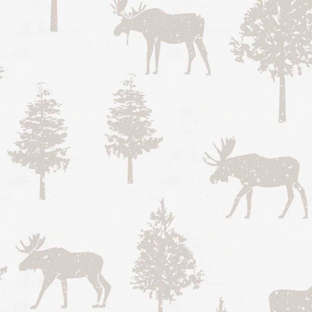 Product image for French Gray Moose Crib Skirt Gathered