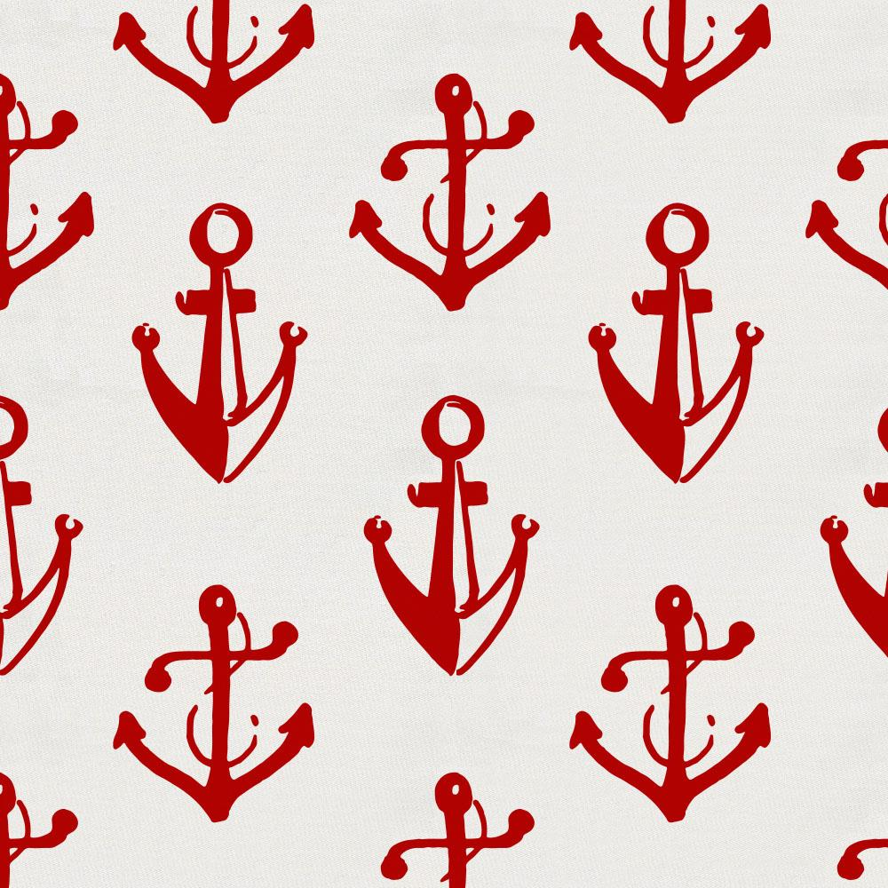 Product image for Red Anchors Crib Skirt Gathered