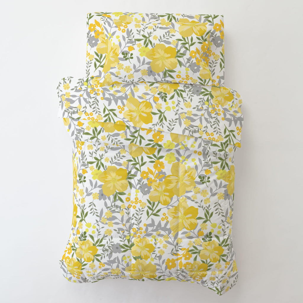 Product image for Yellow Floral Tropic Toddler Pillow Case