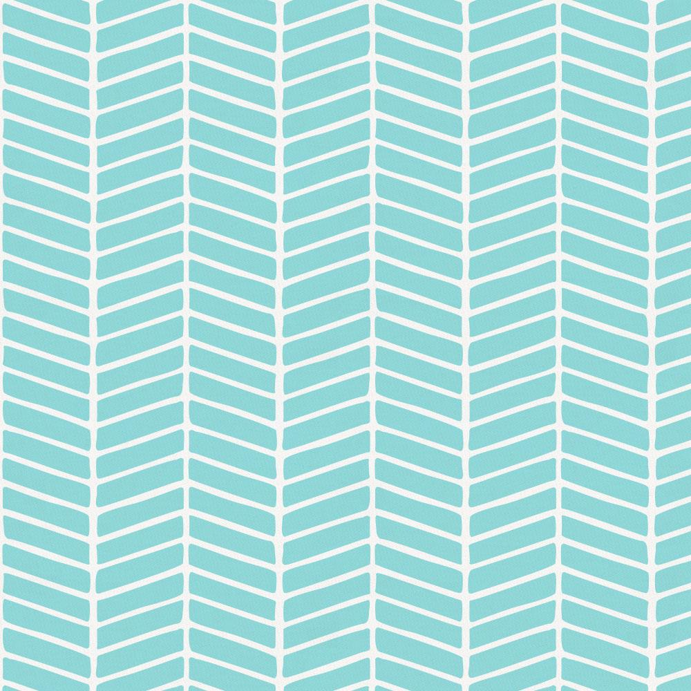 Product image for Seafoam Aqua Herringbone Mini Crib Sheet