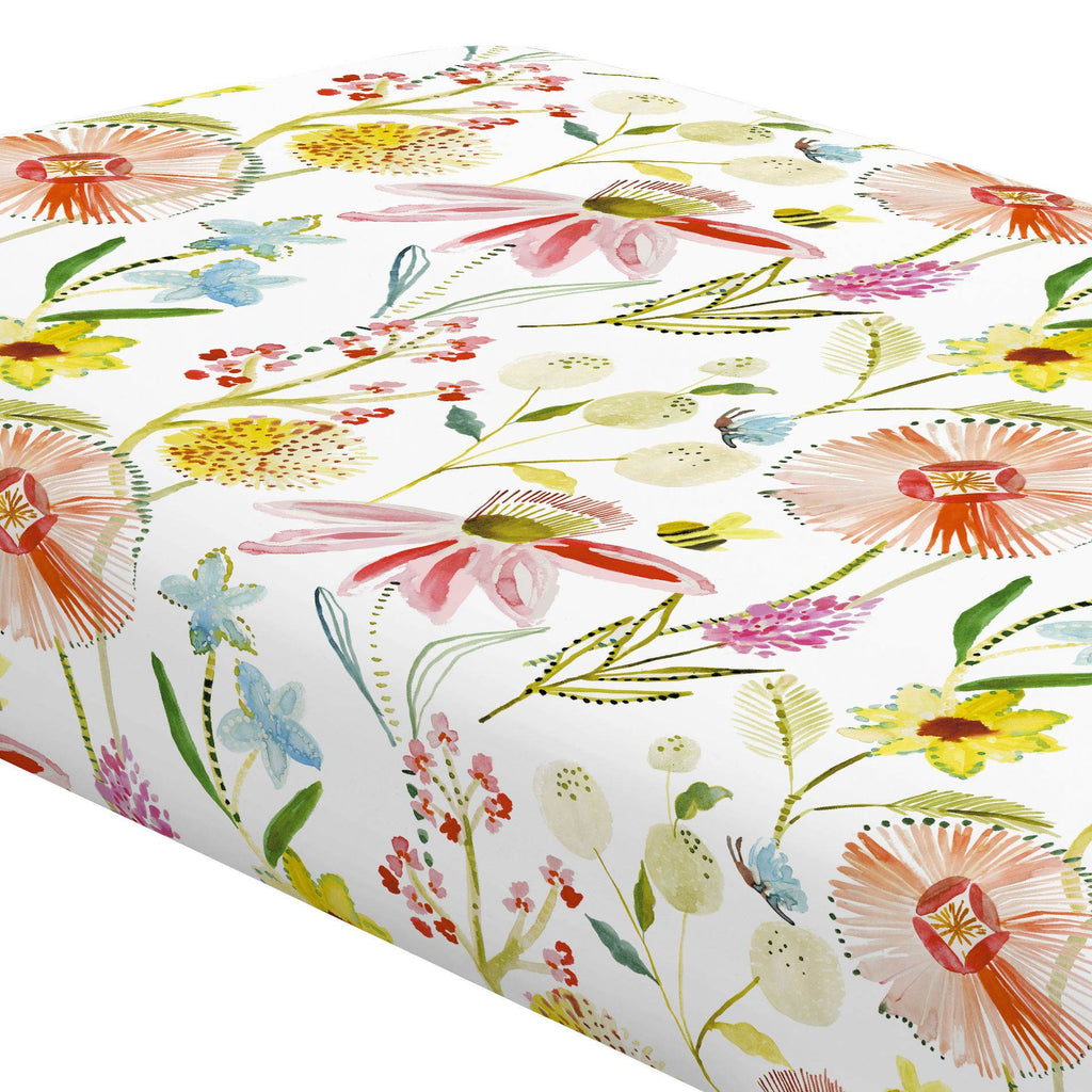 Product image for Watercolor Springtime Crib Sheet