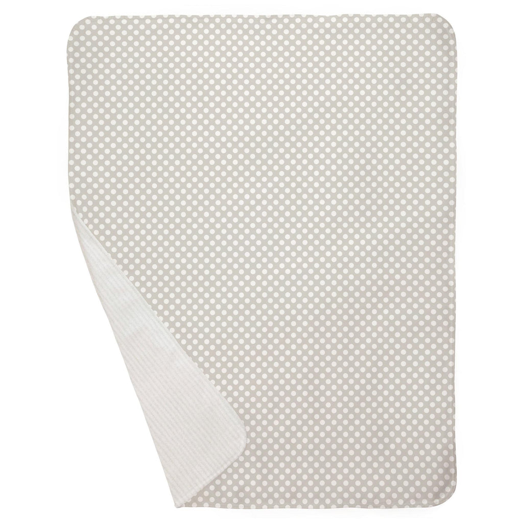 Product image for French Gray and White Dot Baby Blanket