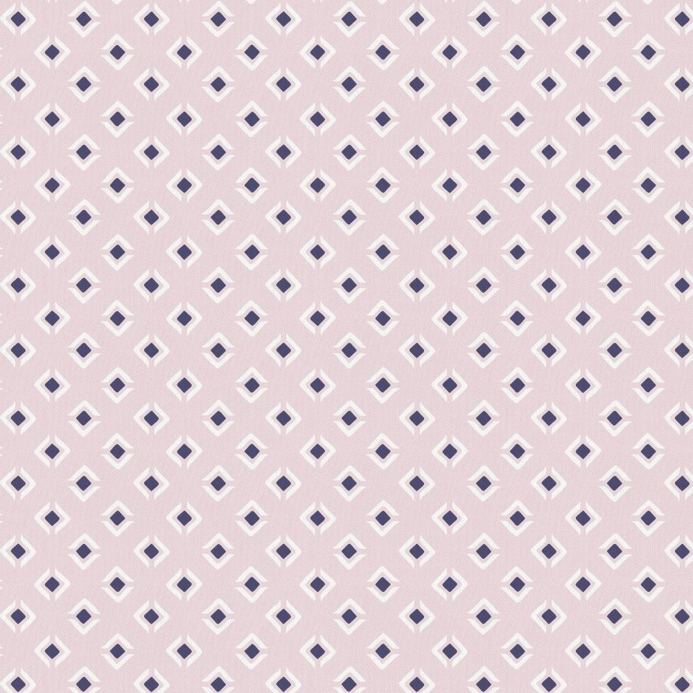 Product image for Pink and Navy Diamond Crib Skirt Single-Pleat