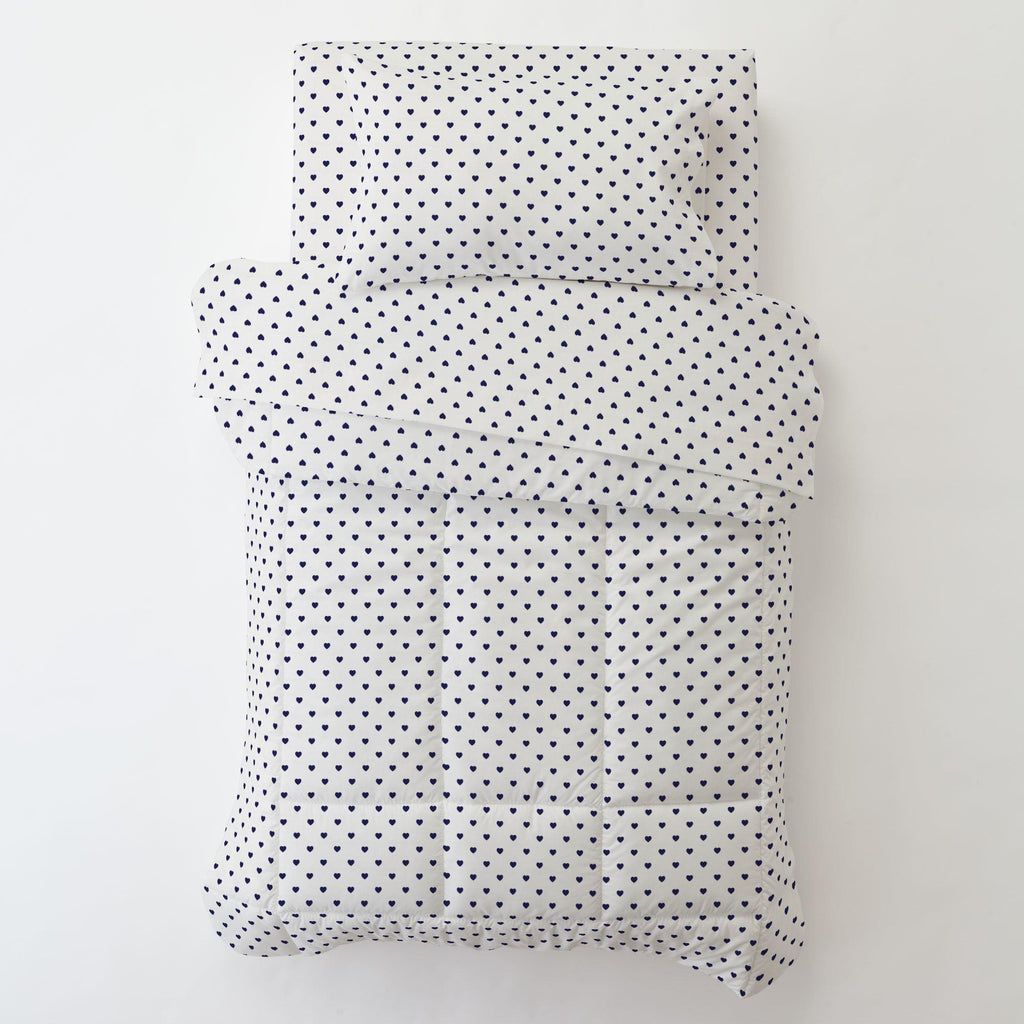 Product image for Windsor Navy Hearts Toddler Pillow Case