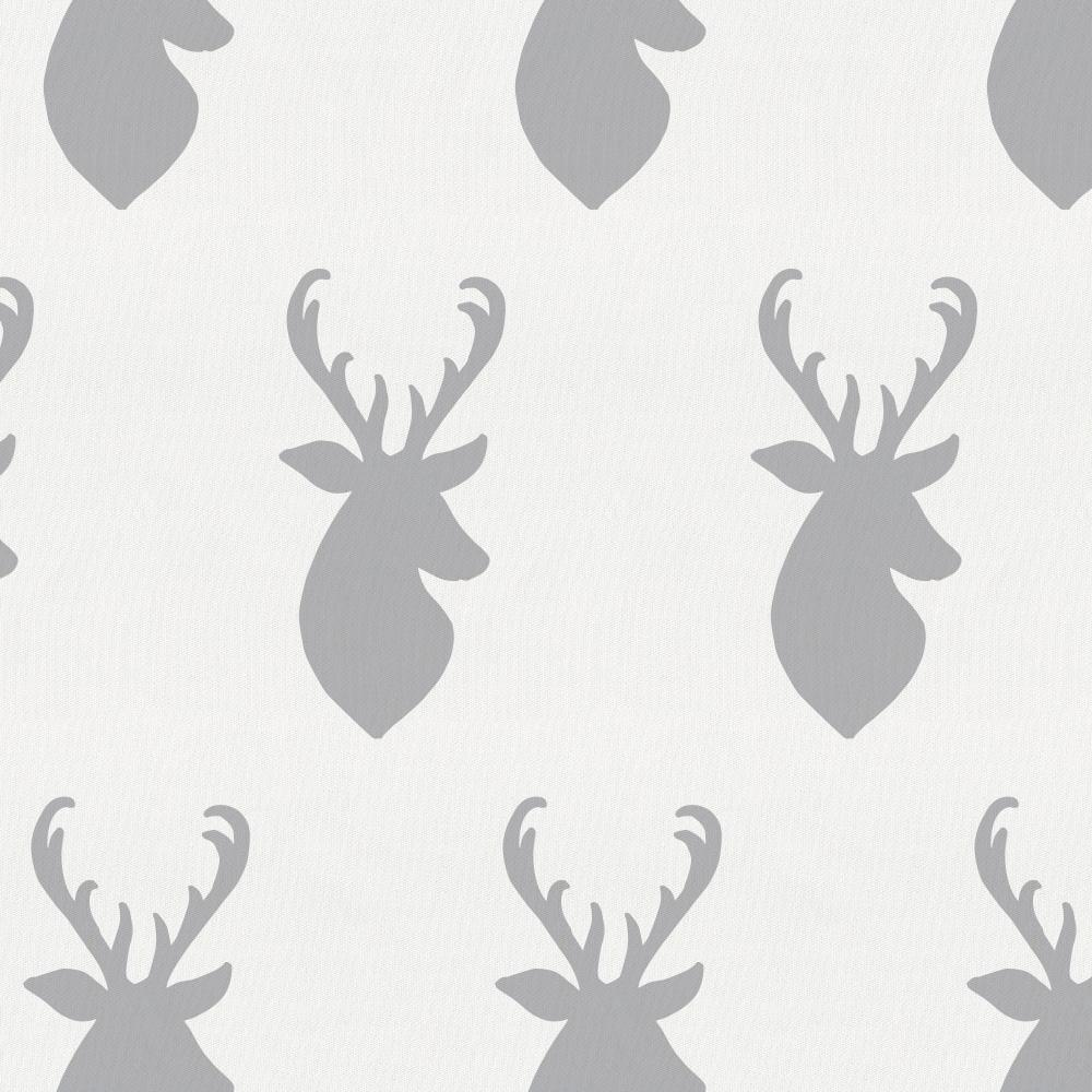 Product image for Silver Gray Deer Head Baby Blanket