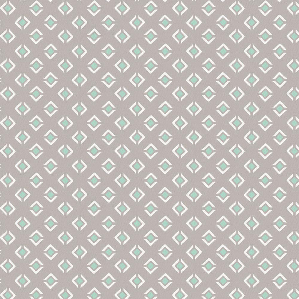 Product image for Taupe and Mint Diamond Crib Skirt Gathered