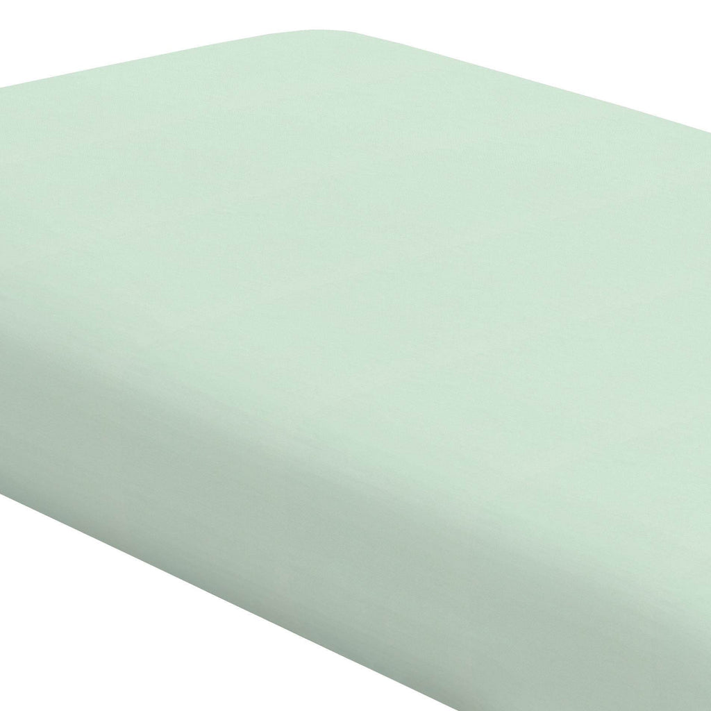 Product image for Solid Icy Mint Crib Sheet