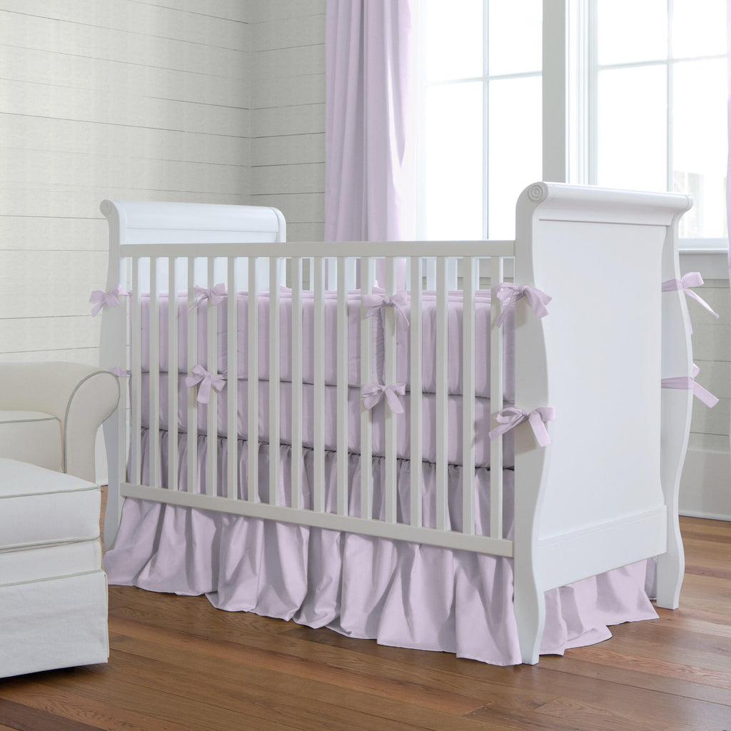 Product image for Solid Lilac Crib Bumper