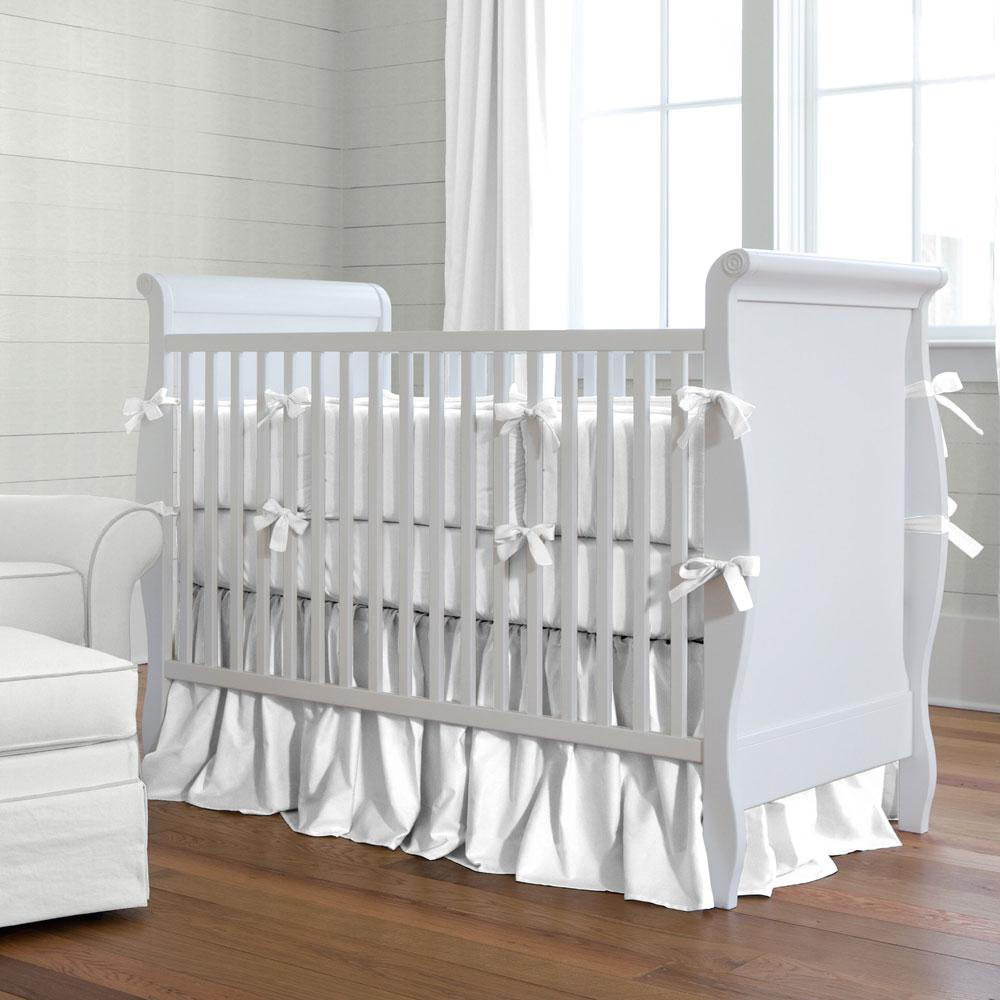 Product image for Solid White Crib Rail Cover