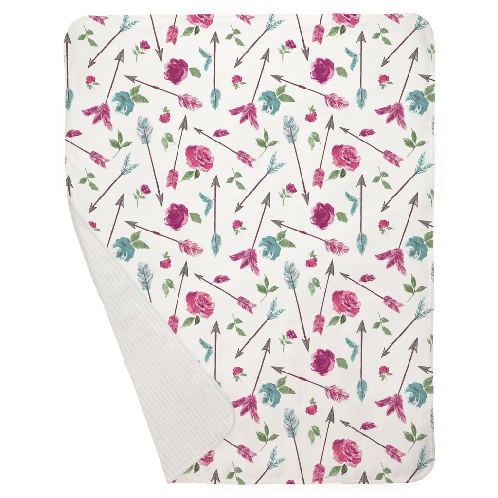 Product image for Floral Arrow Baby Blanket