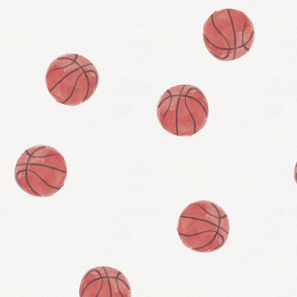 Product image for Watercolor Basketball Crib Skirt Gathered