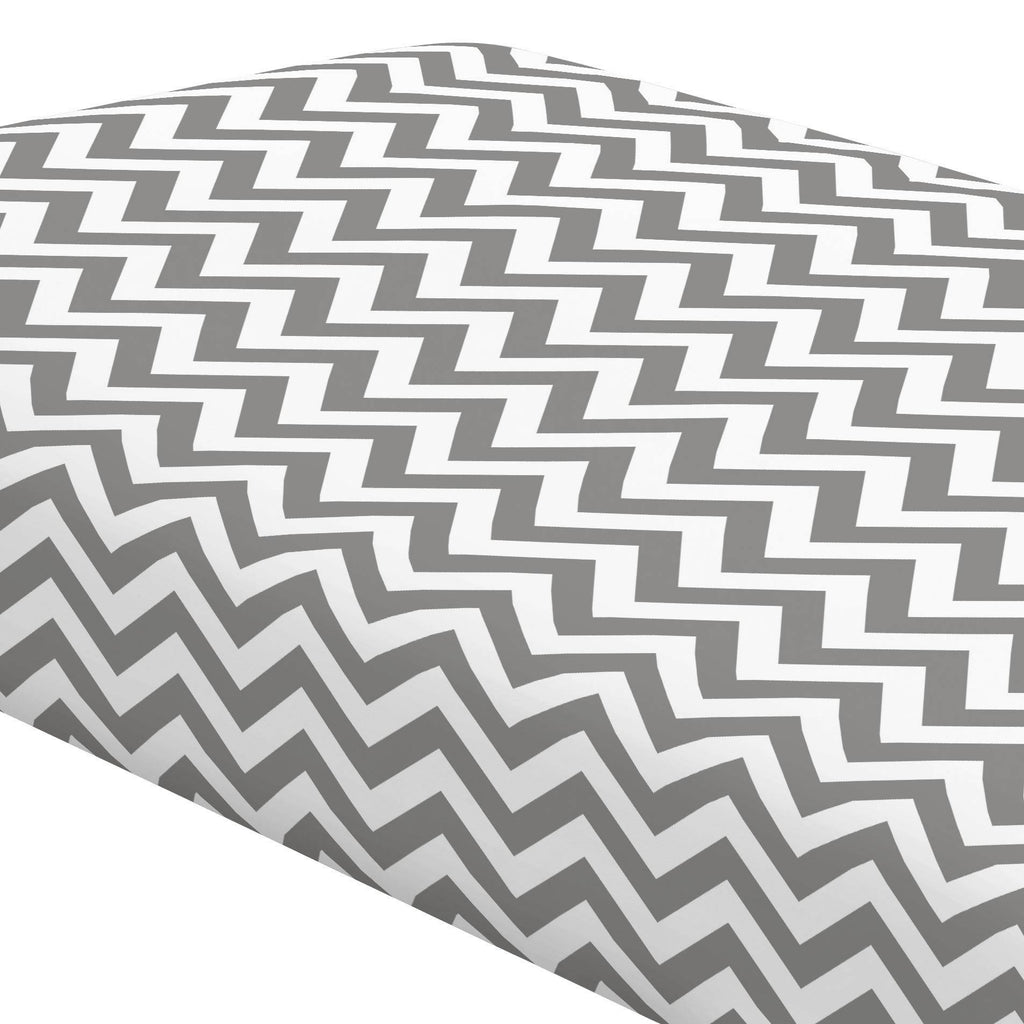Product image for White and Gray Zig Zag Crib Sheet