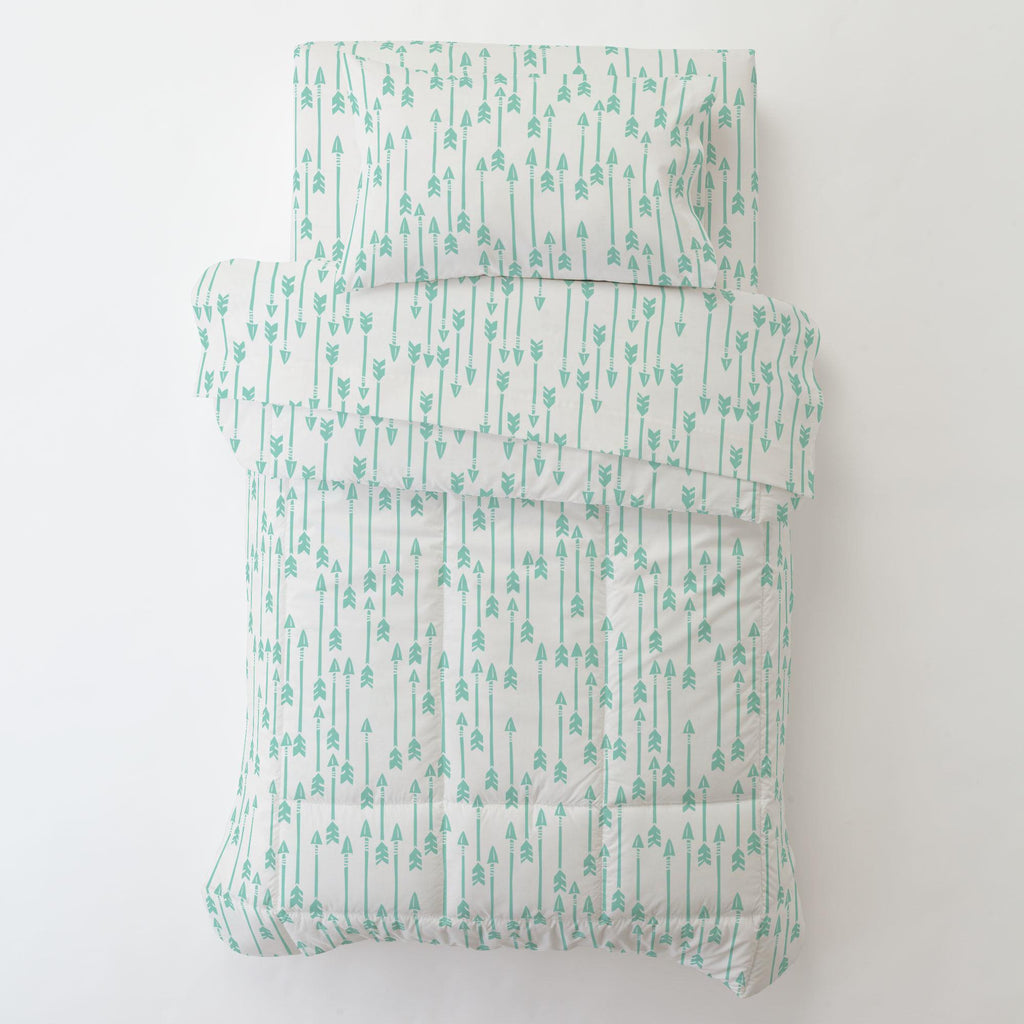 Product image for Mint Flying Arrow Toddler Pillow Case