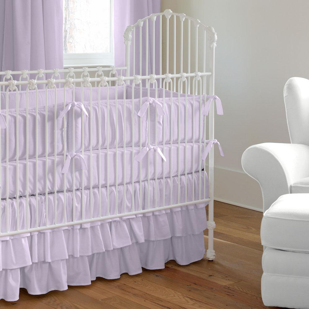 Product image for Solid Lilac Crib Rail Cover