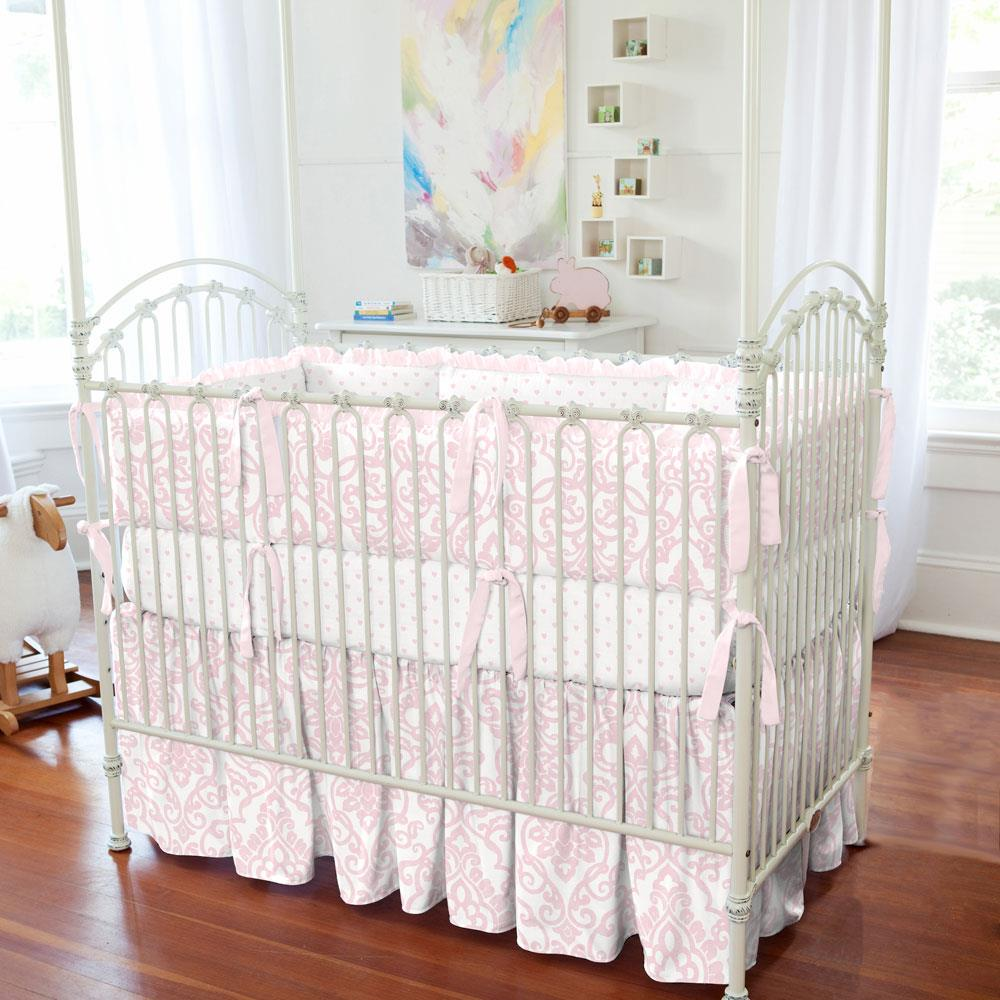 Product image for Pink Filigree Crib Bumper