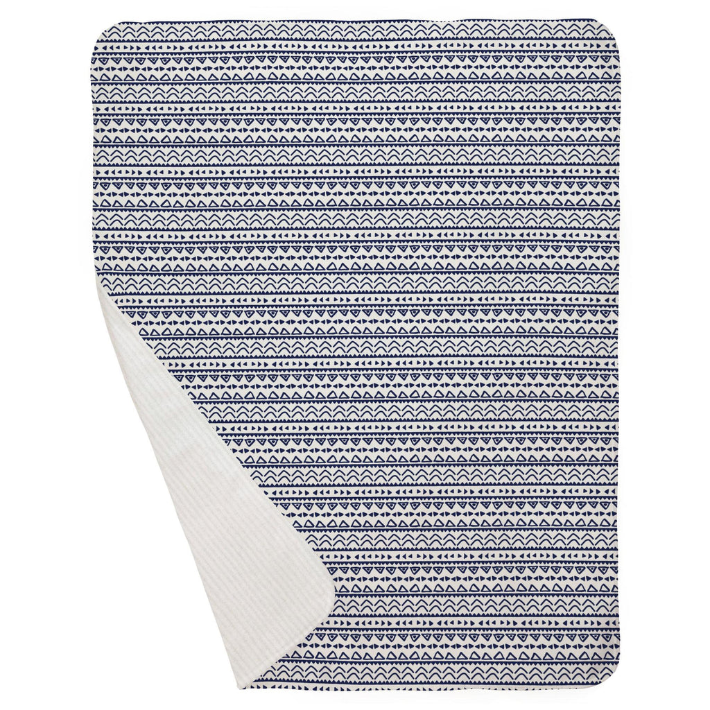 Product image for Windsor Navy Baby Aztec Baby Blanket