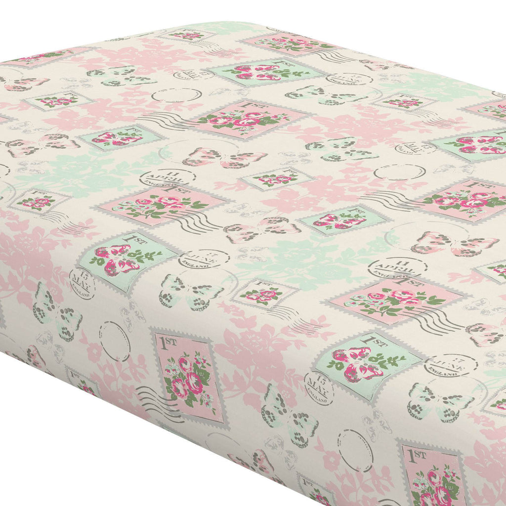 Product image for Blush and Ivory Vintage Stamp Crib Sheet
