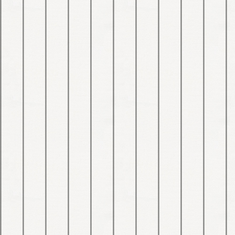 Product image for Cloud Gray Pinstripe Crib Skirt Gathered