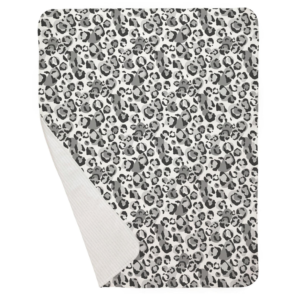Product image for Gray Leopard Baby Blanket