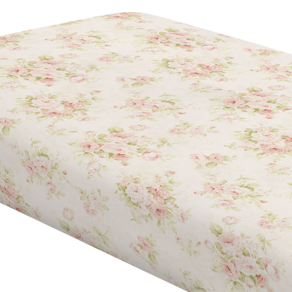 Product image for Pink Floral Crib Sheet