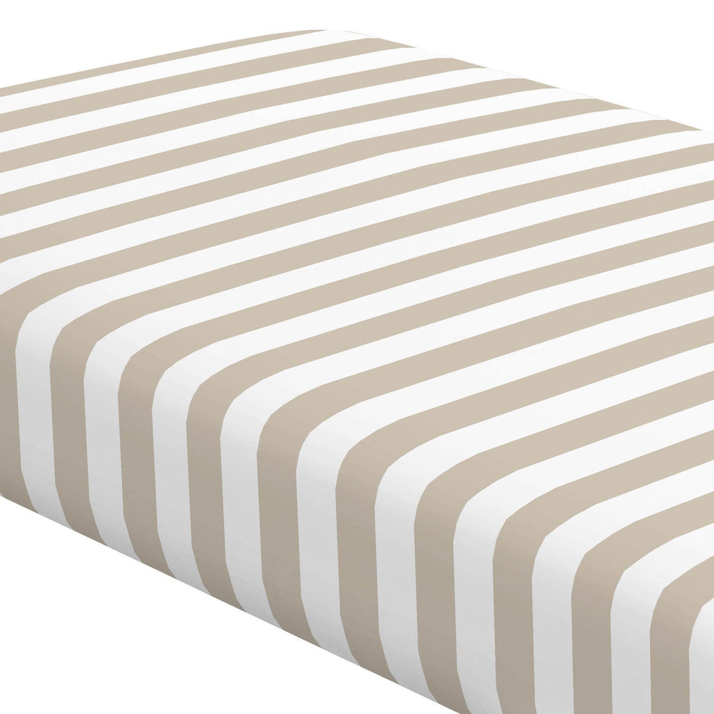 Product image for Taupe Stripe Crib Sheet