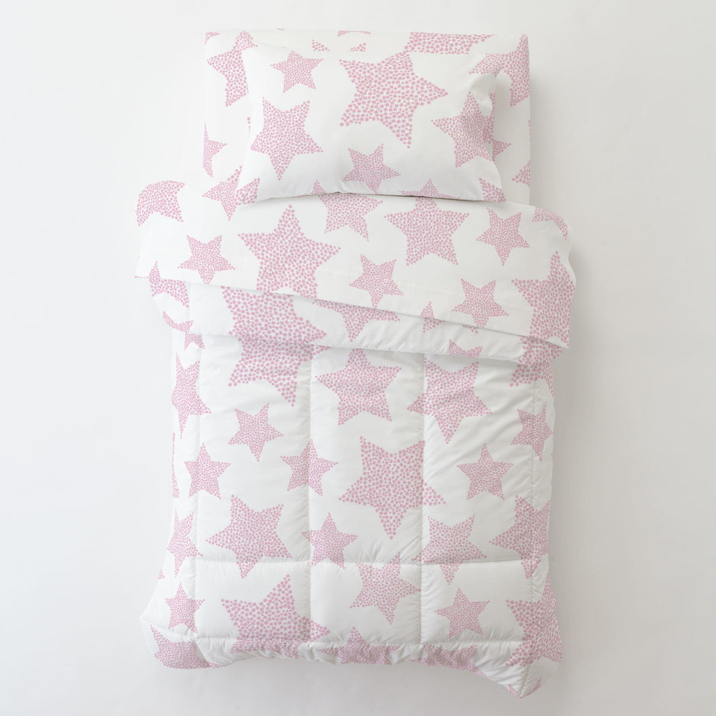 Product image for Bubblegum Galaxy Stars Toddler Sheet Bottom Fitted