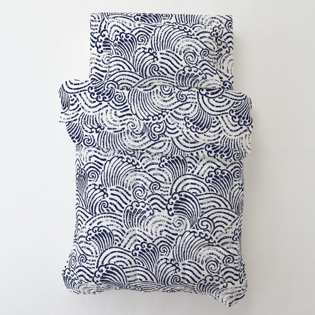 Product image for Navy Seas Toddler Sheet Bottom Fitted