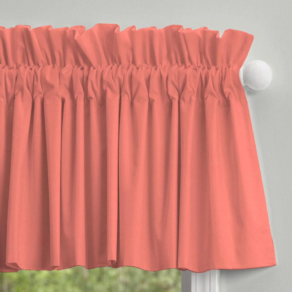 Product image for Solid Coral Window Valance