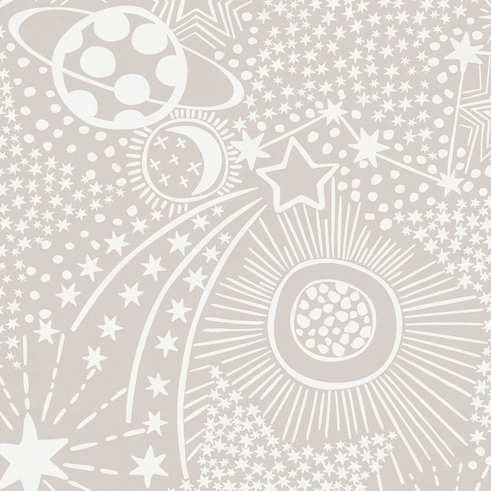 Product image for French Gray and White Galaxy Crib Skirt Gathered