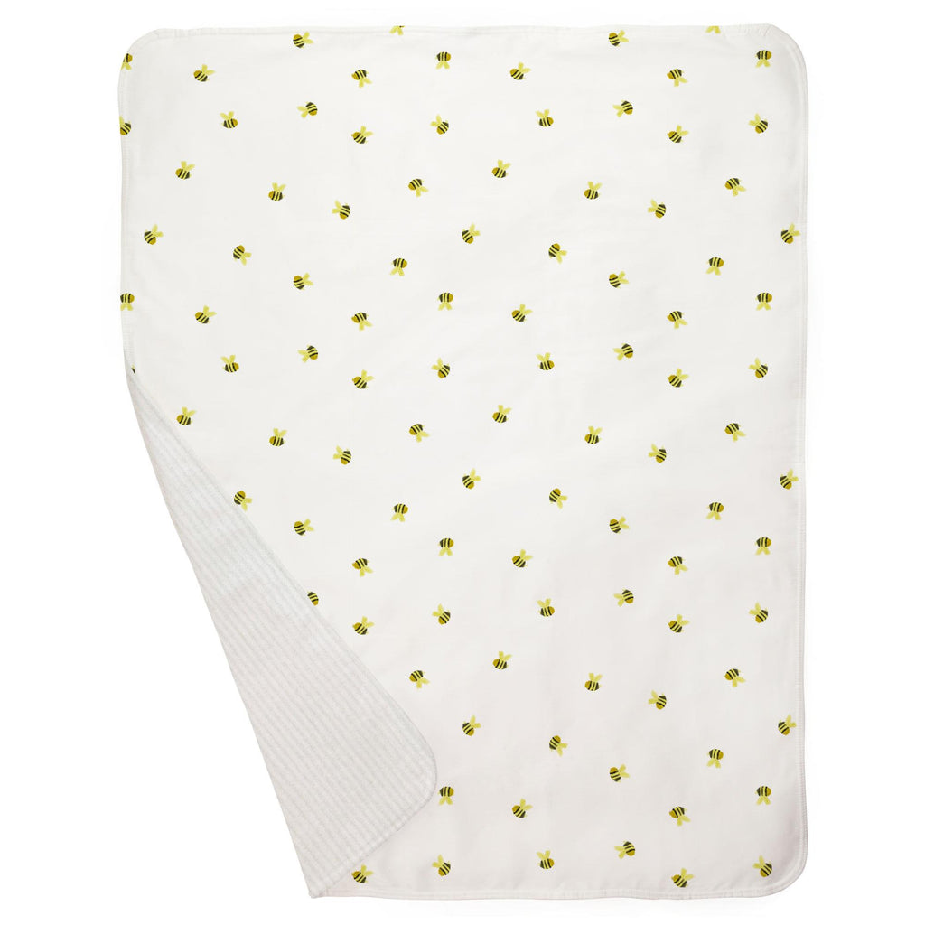 Product image for Watercolor Bees Baby Blanket