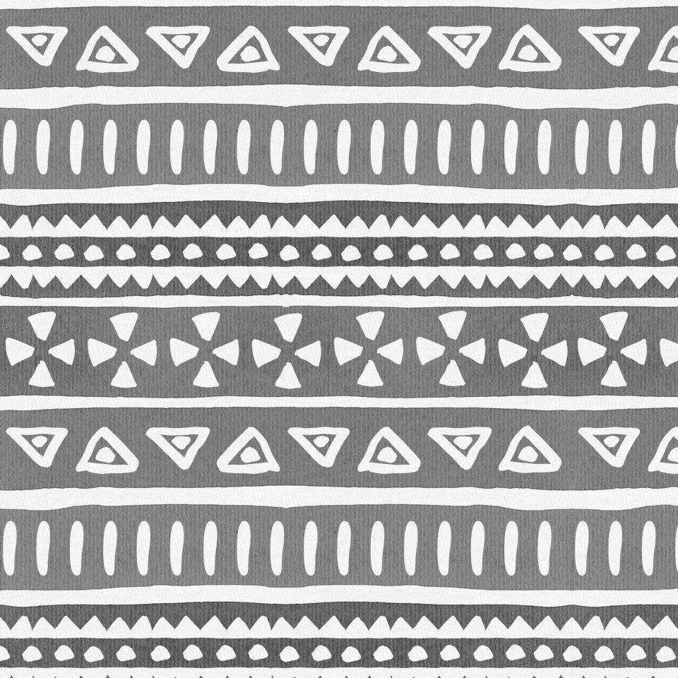 Product image for Gray Watercolor Tribal Crib Skirt Single-Pleat